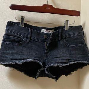 Hollister black jean short shorts